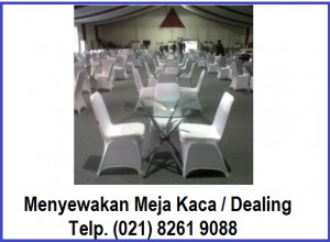 RENTAL meja kaca Pameran marketing
