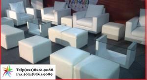 Meja Sofa & kursi sofa putih