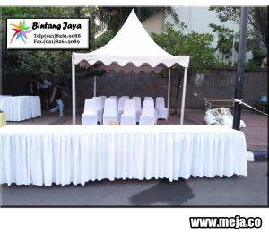 Rental meja kotak terbesar dengan taplak meja berkualitas dan berkelas untuk acara di jabodetabek, karawang, purwakarta dan bandung