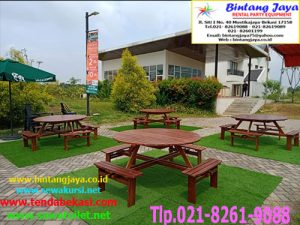 Menyewakan Meja Taman Bulat Jababeka