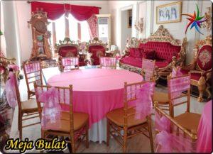 Sewa meja Bulat Kursi Tiffany Elegant