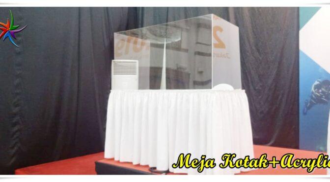 Sewa Meja+Penghalang Acrylic Anti Virus