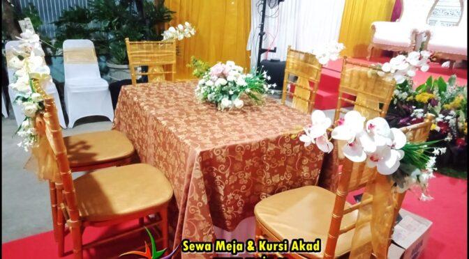 Sewa Meja & Kursi Akad Promo Free Ongkir Jakarta Bekasi