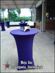 Sewa Meja Barstool + Cover Murah di Jabodetabek