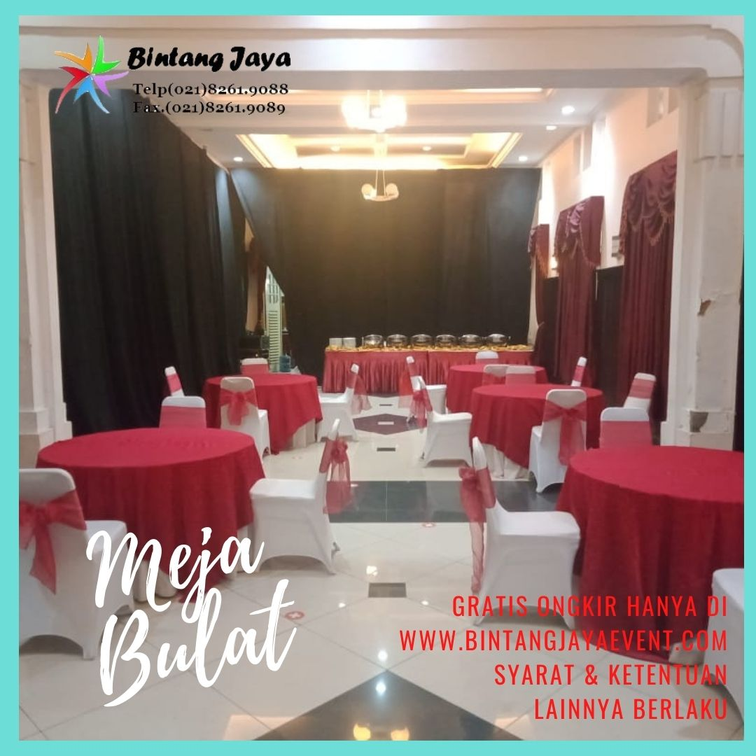 Promo Round Table Rental + Taplak Meja
