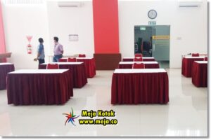 Sewa Meja Kotak Event Multipolar Technology  Jakarta