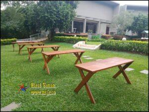Sewa Bangku Meja Taman Event Rafles Cibubur ( Promo )