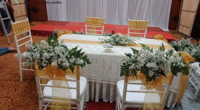 Sewa meja akad eksklusif wedding murah mewah Jabodetabek