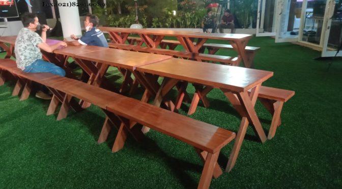 Sewa meja kayu taman extra murah Depok sekitarnya